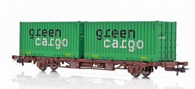 GREEN CARGO Lgjns CONTAINERVAGN